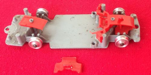 Corgi #241 - Original - Ghia L. 6.4 - Baseplate ready to receive a Red Interior